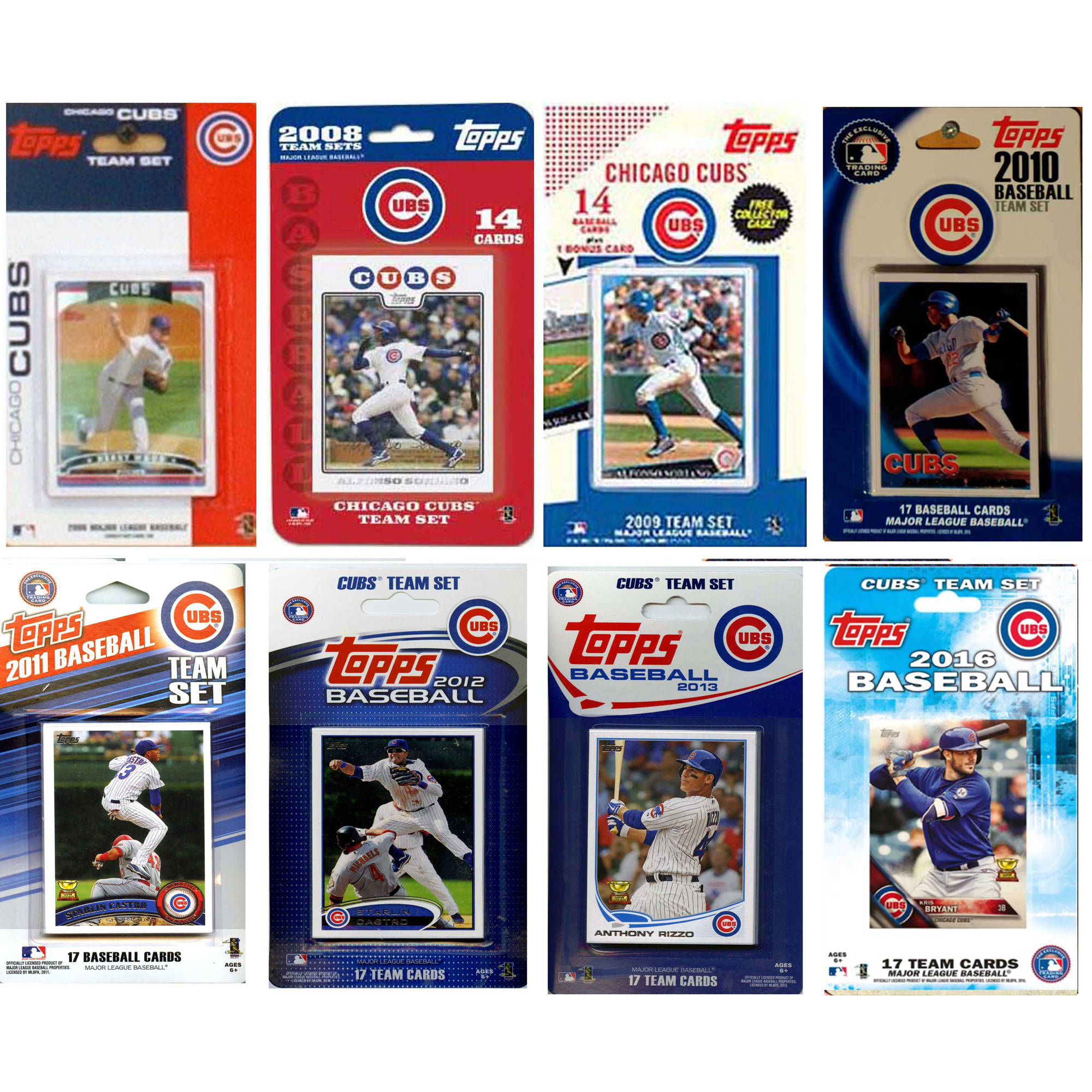 C&I Collectables MLB Chicago Cubs 8 Different Licensed Trading Card Team Sets