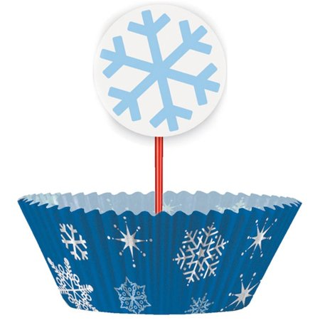 Snowflake Cupcake Kit for 24