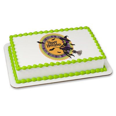 Halloween Edible Icing Image for 8 inch round cake - Halloween Marijuana Edibles