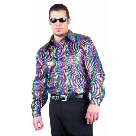 Adult Rainbow Swirl Disco Shirt - Rainbow Tube Top