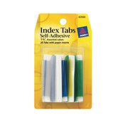 Avery Index Tabs with Writable Inserts, 20 Assorted Tabs