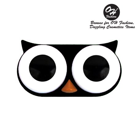 OH Fashion Contact Lens Case Owl style, Black travel case , 1 pc, eyecare , contact lens , contact storage - Halloween Contact Lenses Store