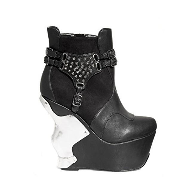 Hades Shoes H-Stallion 5 Wedge With Iron Cross Chrome 9 / Black - image 2 de 2
