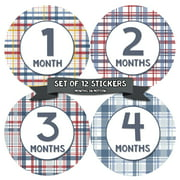 Monthly Baby Stickers by Months In Motion | 12 Month Milestone Sticker for Newborn Babies (Style 1206)