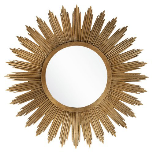 Surya Gold Sunburst Wall Mirror - 47W x 47H in.