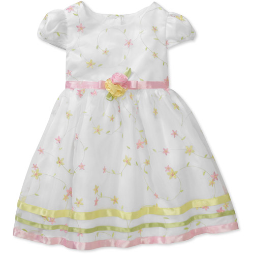 George Baby Girls' Embroidered Organza Dress
