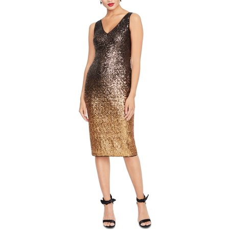 Womens Sheath Dress Ombre Karine Sequin 4