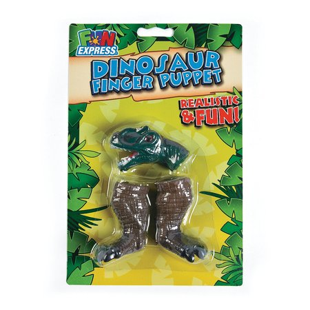 Dino Finger Puppet - Toys - Character Toys - Finger Puppets - 12 Pieces - Dinosaur Puppy