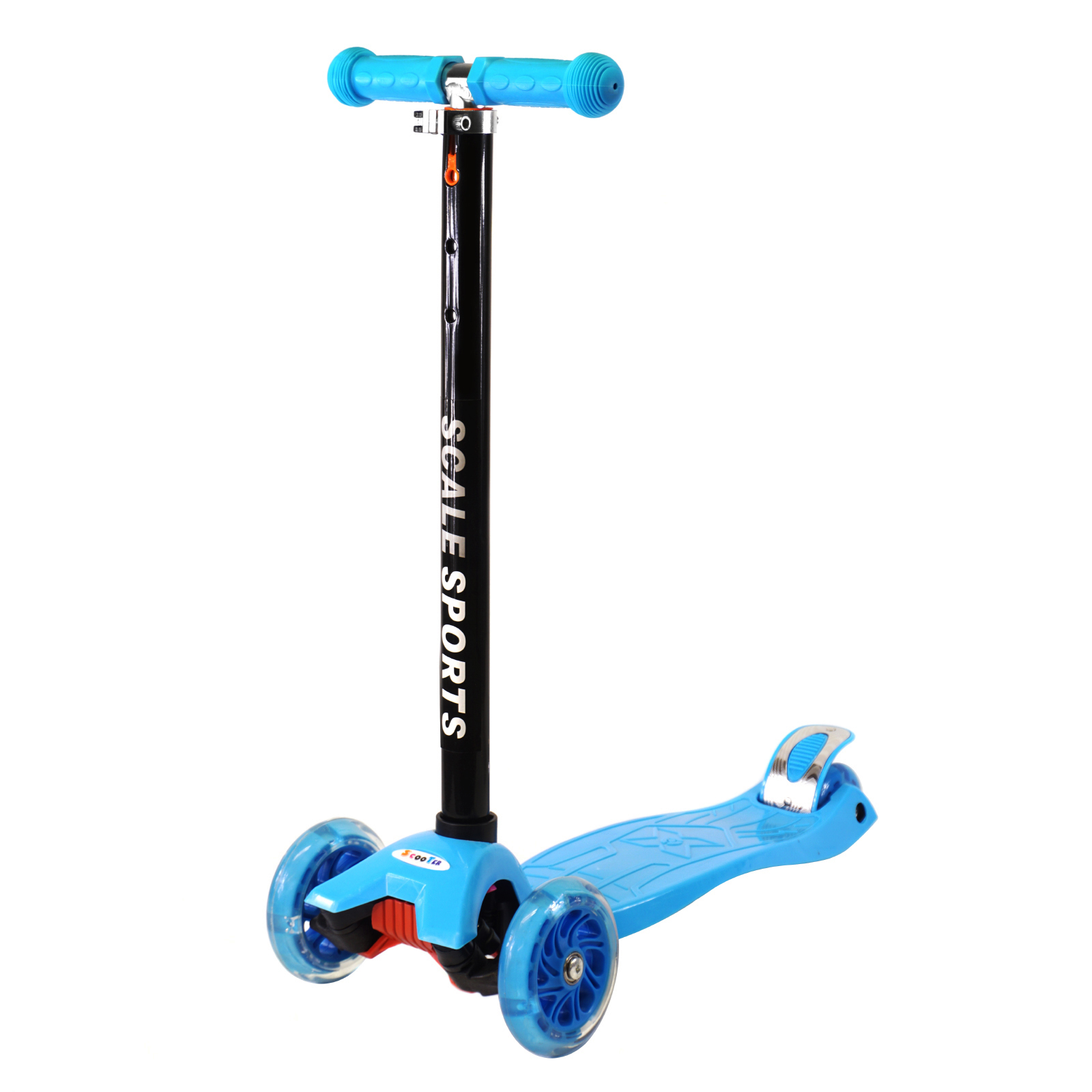 Adjustable Kids Push Kick Scooter with Light Up Wheels by Scale Sports