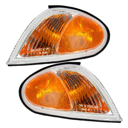 Corner Lights Lens - Driver and Passenger Park Signal Corner Marker Lights Lamps Lenses Replacement for Hyundai 92301-29550 92302-29550