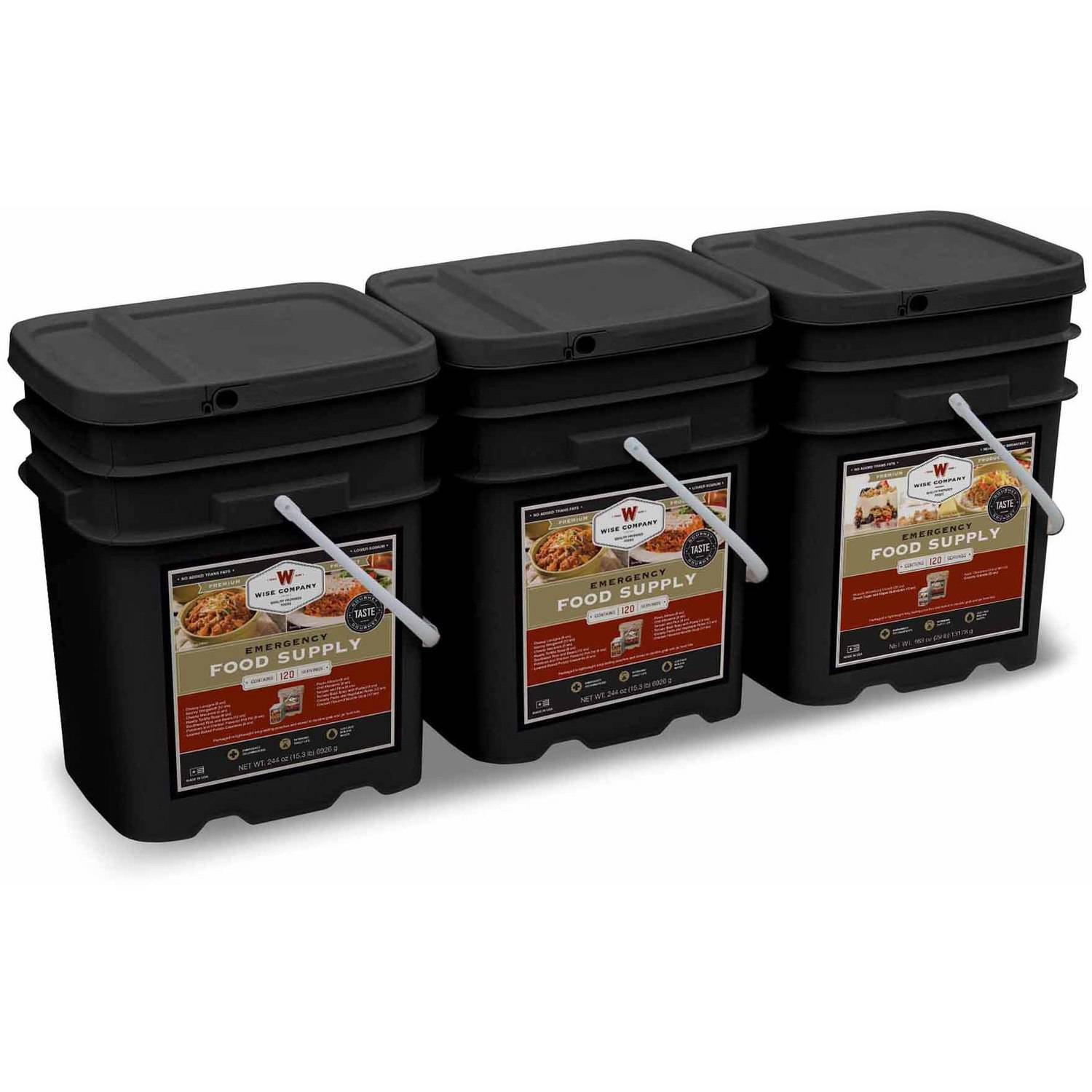 Wise 360 Servings of Emergency Survival Food Storage. 1 Month Supply for 4 Adults (3 Servings Daily)