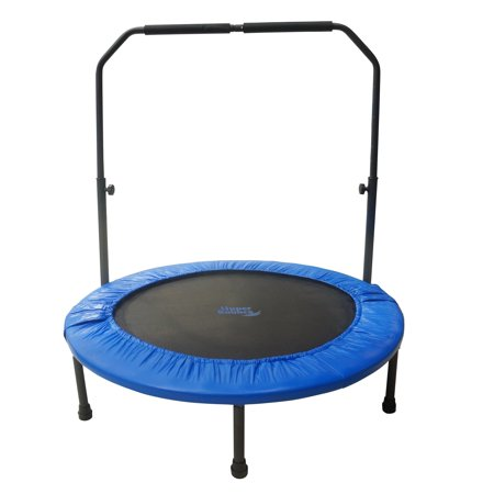 Upper bounce 48 in mini indoor outdoor trampoline with for Trampoline porch swing