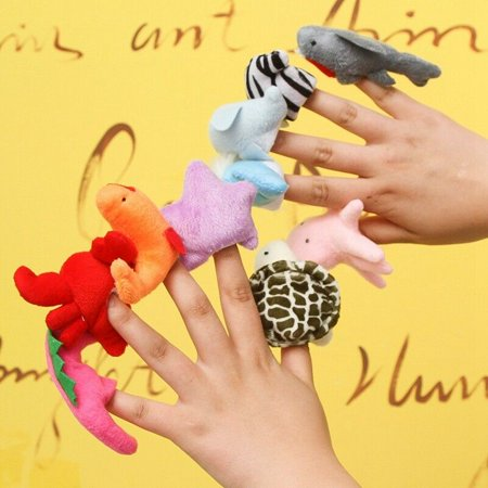 Fancyleo Lovely Ocean Animal Finger Puppets Plush Doll Boys Girls Pretend Play Story Xiao Big Mouth Animal Puppets