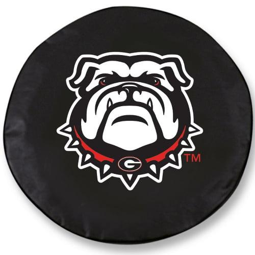 NCAA Tire Cover by Holland Bar Stool - Georgia Bulldogs, Black - 24 x 8 Inches