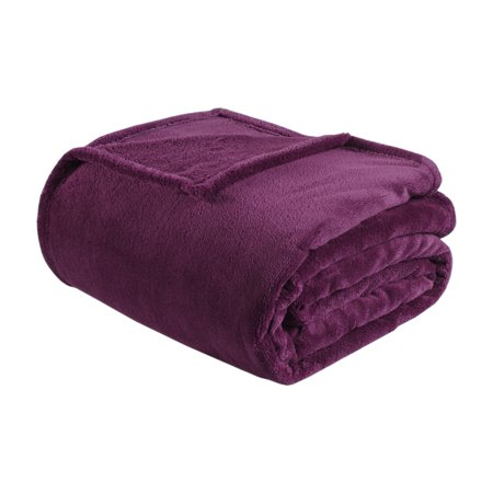 Home Essence Oversized Plush Microlight Bed Blanket, Full/Queen, Purple