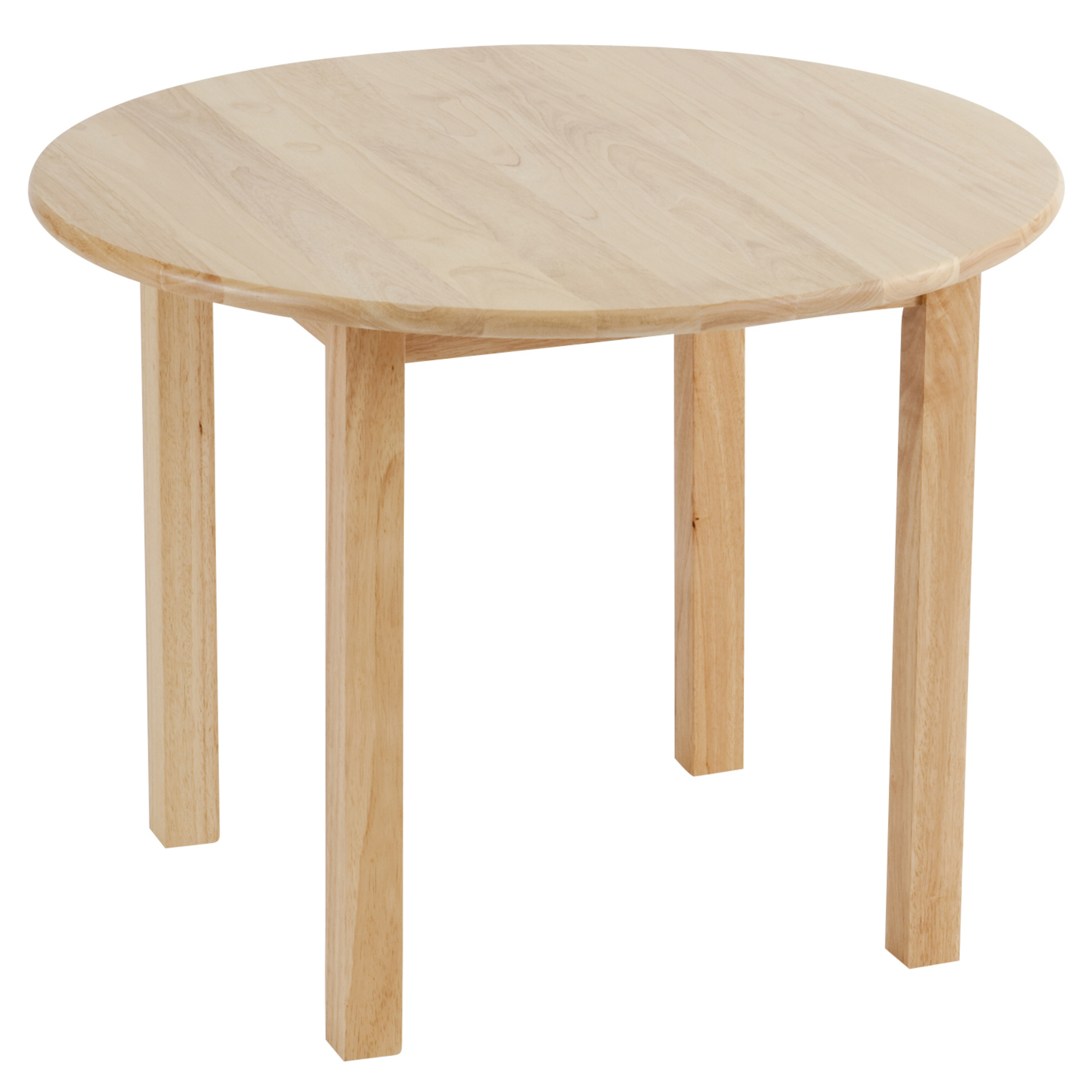 30in Round Hardwood Table with 22in Legs