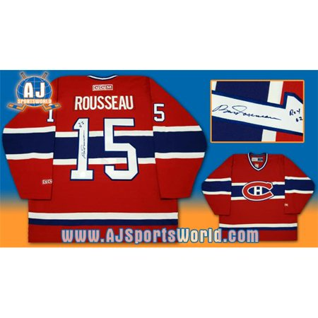 AJ Sports World ROUB105000 BOBBY ROUSSEAU Montreal Canadiens SIGNED ROY '62 JERSEY by