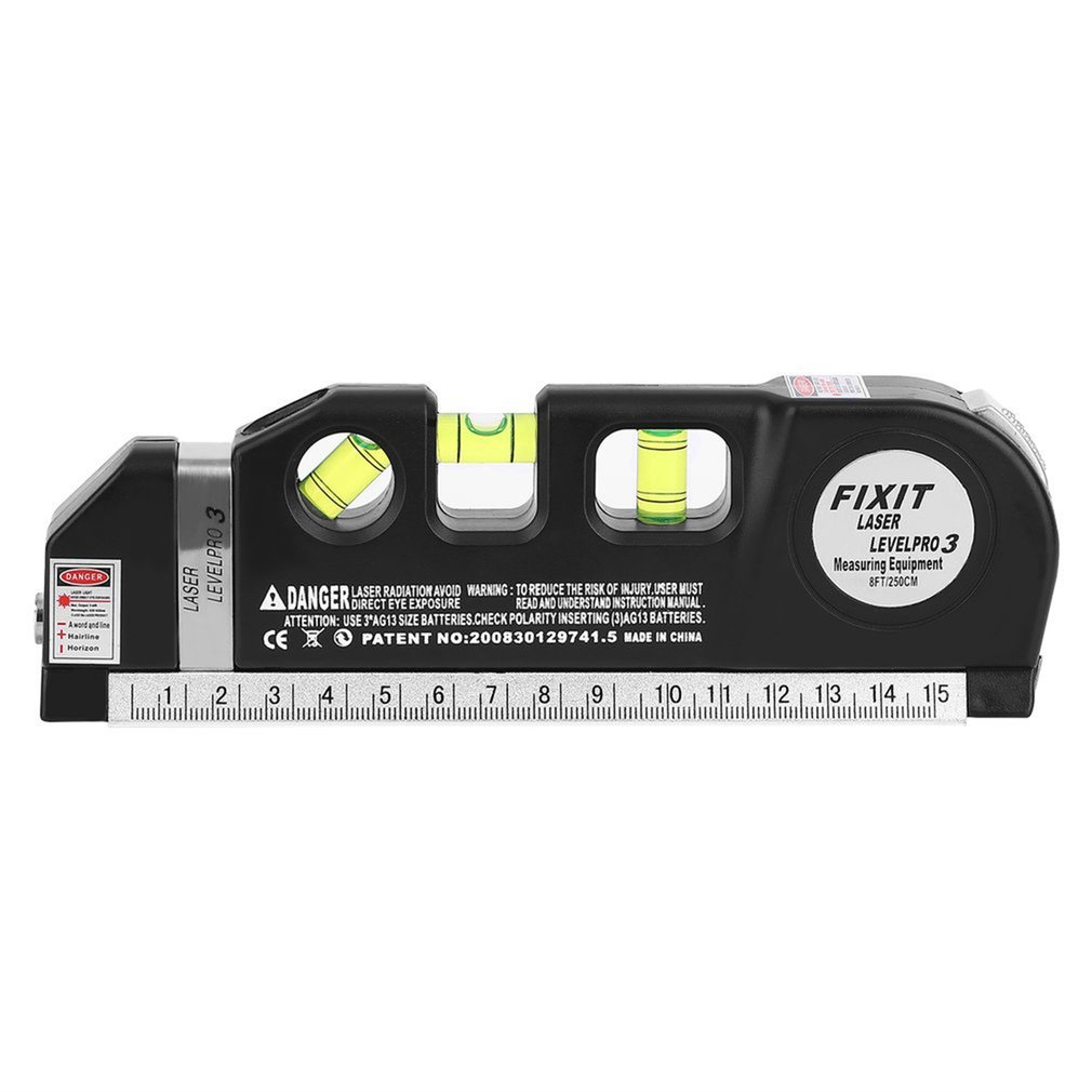 Upright Horizontal Lasers Level 8FT Aligner Tape Measure Standard ...