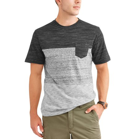 (Men's Tri Panel Pocket Tee, up to size 5XL)