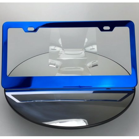 Regular Style Powder Coated Candy Blue Stainless Steel License Plate (Blue Laser License Plate)