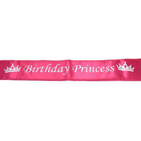 Satin Birthday Princess Sash, Fuchsia, 29-Inch - Birthday Sash Ideas