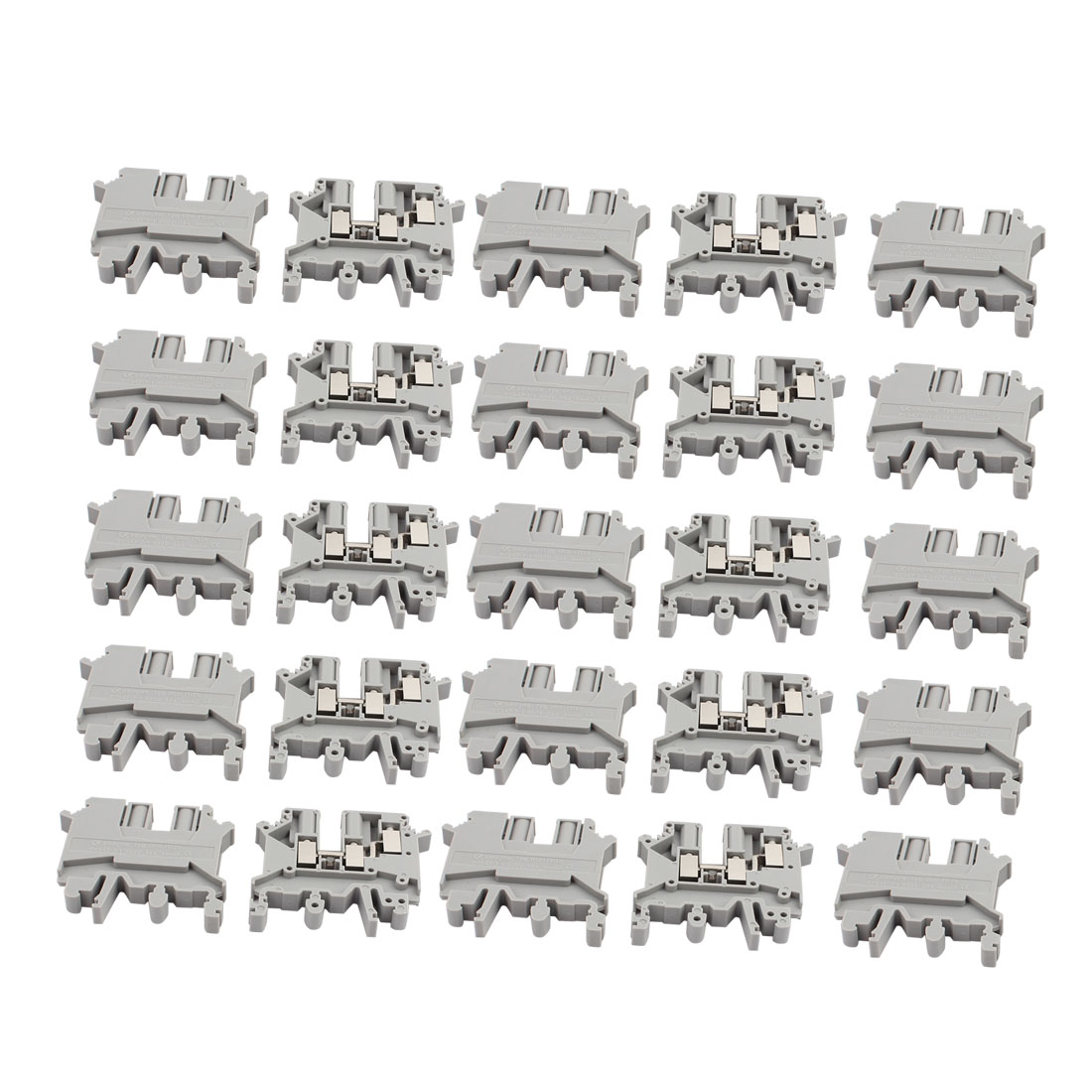 25Pcs UK-5TWIN DIN Rail Mount  One Inlet Double Outlet Terminal Block 500V 32A - image 3 of 3