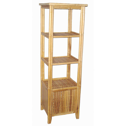 Bamboo54 4 Tier Rectangular Shelf