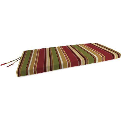 Jordan Manufacturing Outdoor Patio Bench, Swing, and Glider Cushion, Westport Henna Stripe