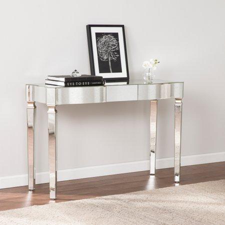 Harper Blvd Clarendon Antique Silver Mirrored Glam Console Table - Harper Blvd Clarendon Antique Silver Mirrored Glam Console Table