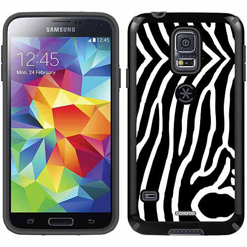 Zebra Vertical Black Design on Samsung Galaxy S5 CandyShell Case by Speck
