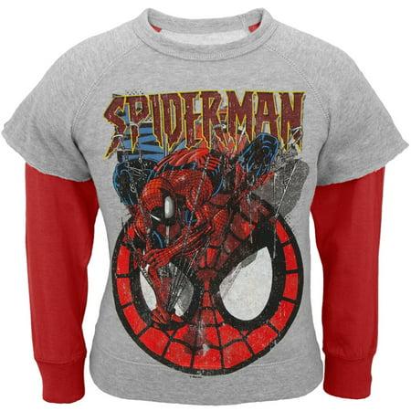 Spider-Man - Jump & Roll Juvy Reversible Crewneck Sweatshirt