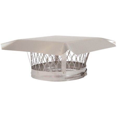 Round Chimney Top (HY-C LC13 Round Clamp-on Single-Flue Liner Stainless Steel Chimney Cap (13