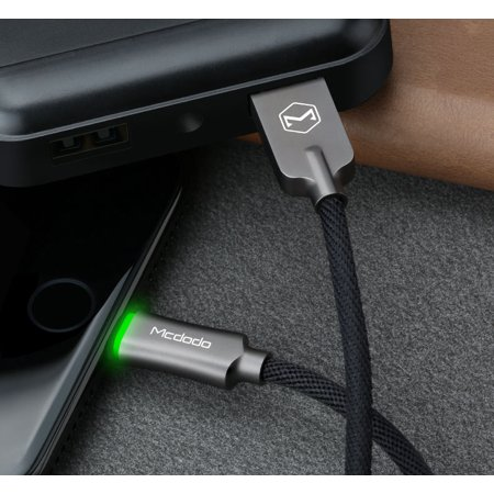 Portable Micro USB Smart LED Auto Disconnect Quick Charge Data Cable MCDODO