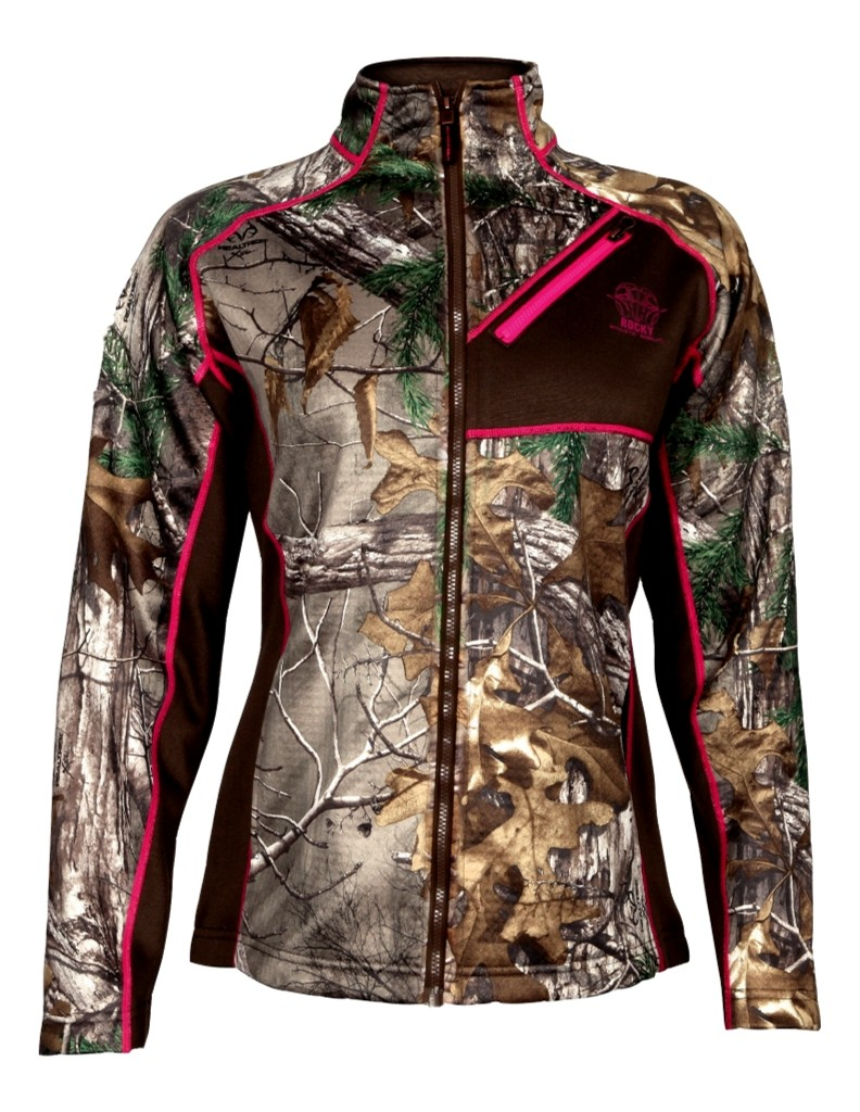 Rocky Outdoor Jacket Womens Athletic Mobility Fleece Realtree HW00132 by Rocky
