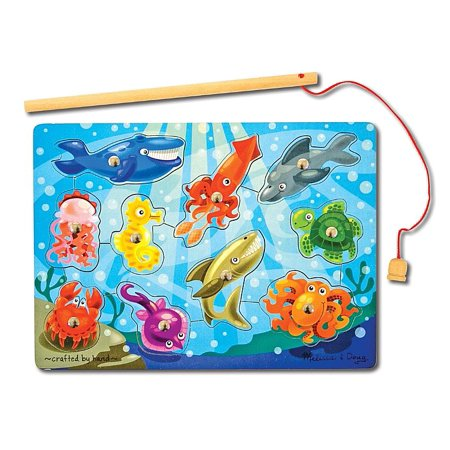 Melissa & Doug Magnetic Wooden Fishing Game and Puzzle With Wooden Ocean Animal Magnets Doug Magnetic Number Maze