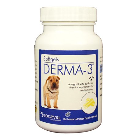 Derma-3 Softgel Capsules for Medium Dogs (60 count)
