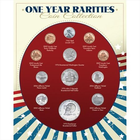 One Year Rarities Coin Collection Coin Collection Display