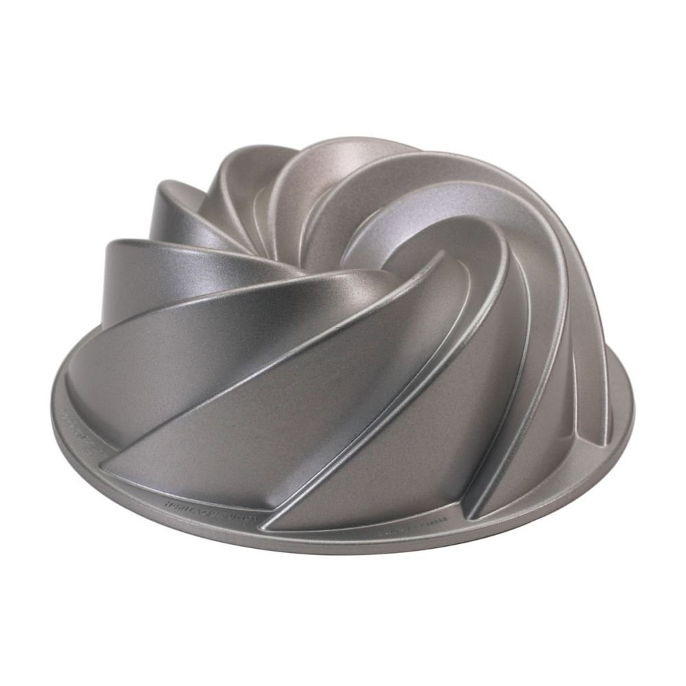 80602 Aluminum 10-Cup Non-Stick Bundt Pan, Cast Aluminum Formed Rose Premium Pro NonStick 1015 Platinum 10Cup... by