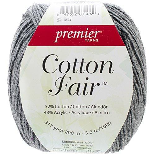 Premier Yarns Cotton Fair Solid Yarn, Slate Grey Multi-Colored