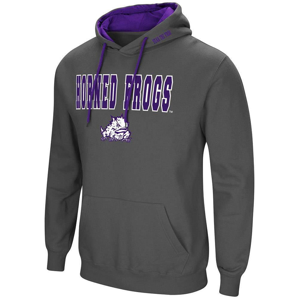 Mens TCU Texas Chrstian Horned Frogs Pull-over Hoodie 2XL by Colosseum