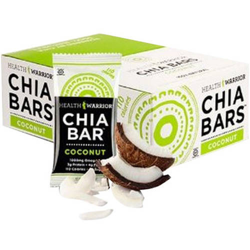 Health Warrior Coconut Chia Bar, 0.88 oz, (Pack of 15)