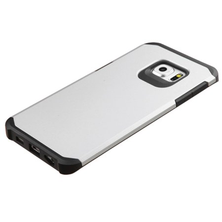 Insten Hard Hybrid Rugged Shockproof Rubber Silicone Case For Samsung Galaxy S6 Edge Plus - Silver/Black - image 2 of 4