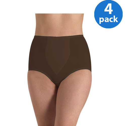 Cupid Light Control Brief with Shaping Tummy Panel 2-Pack Black Size Medium