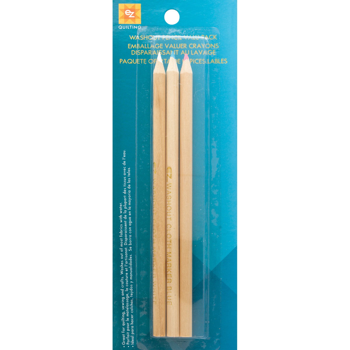 Wrights 882669 Washout Pencils, 3-Pack Multi-Colored