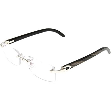 54075917d724 Cartier Prescription Eyeglasses Frames Black Horn T8100904 Rimless Size   Lens  Bridge  Temple  53-18-140-32 - Walmart.com