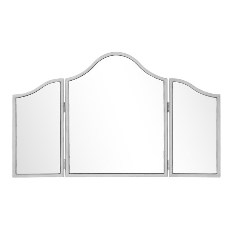 Elegant Lighting Chamberlan Trifold Vanity Mirror in Silver by Elegant Lighting