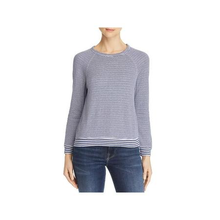 Velvet Womens Striped Raglan Sleeves Casual Top Velvet Casual Shirt
