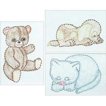 Stamped Embroidery Kit Beginner Samplers, 6