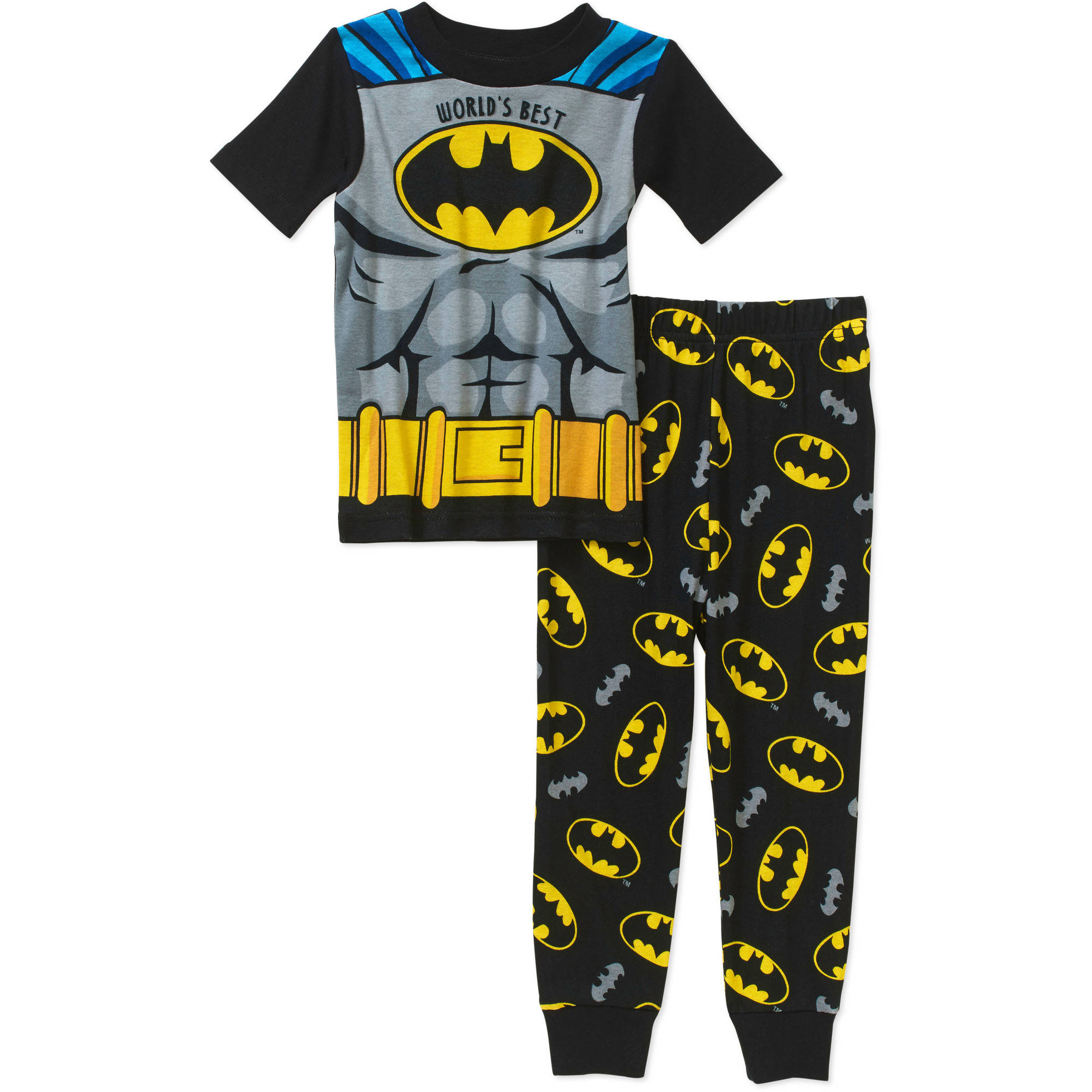 Batman Toddler Boys' Licensed Cotton Pajama Sleepwear Set