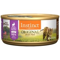 (Case of 12) Instinct Original Grain-Free Real Rabbit Recipe Natural Wet Canned Cat Food by Nature's Variety, 5.5 oz. Cans